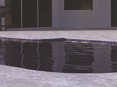 2cm Porcelain Pavers - Silver Travertine